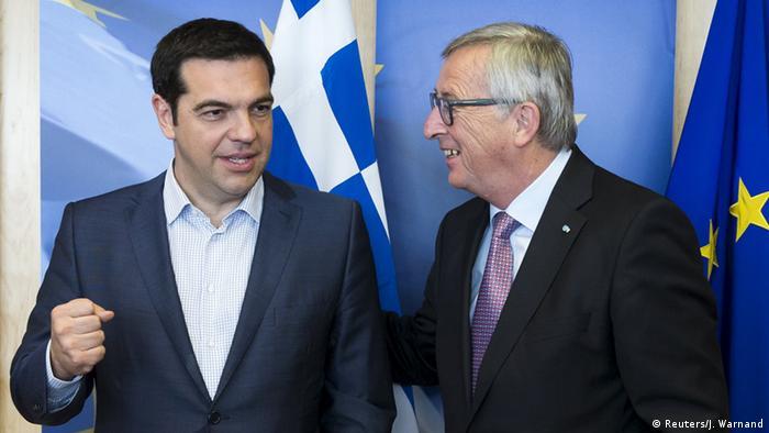 EU Griechenland Tsipras mit Juncker