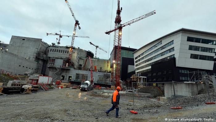Frankreich Kernkraftwerk Flamanville Baustelle