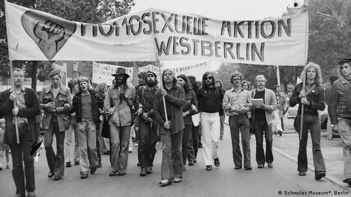 Protest in Berlin, 1973, Copyright: Rüdiger Trautsch