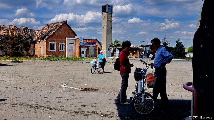 Поблизу блокпосту в Станиці Луганській