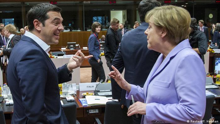 Alexis Tsipras și Angela Merkel