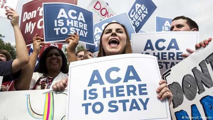 Washington Supreme Court Entscheid über Obamacare Jubel