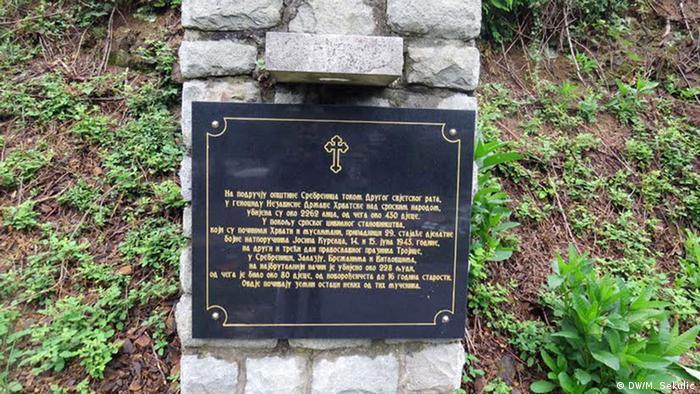 Bosnien Srebenica Denkmal und Grabmal für die gefallenen Partisanen