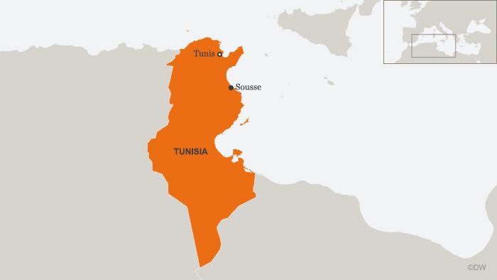 Karte Tunisia Tunis Sousse ENG