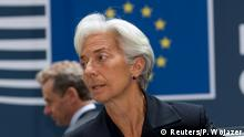27.06.2015 *** International Monetary Fund Managing Director Christine Lagarde arrives at a Eurozone finance ministers meeting in Brussels, Belgium June 27, 2015. Euro zone finance ministers meet as planned today for an emergency meeting on Greece despite Greek Prime Minister Alexis Tsipras' decision to call a referendum, an EU official said. REUTERS/Philippe Wojazer