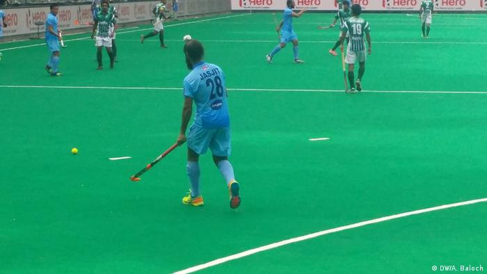 Belgien Hockey World League Semifinale Indien vs. Pakistan (DW/A. Baloch)