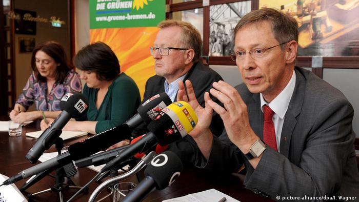 Abschluss der rot-grünen Koalitionsverhandlungen in Bremen