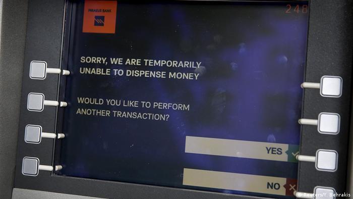Не работающий банкомат в Афинах