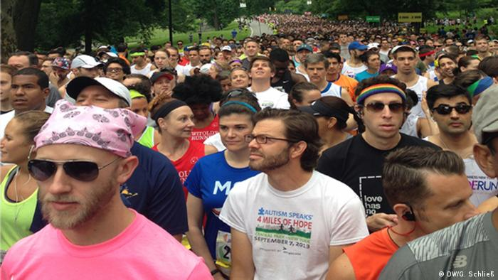Läufer beim Pride-Run in New York (Foto: DW/G. Schließ)