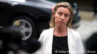 La encargada de Política Exterior de la UE, Federica Mogherini.
