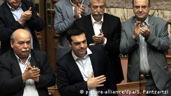 Griechenland Athen Parlament Debatte Referendum Alexis Tsipras