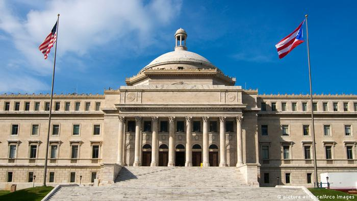 Puerto Rico Kapitol Staatspleite Symbolbild Kapitol