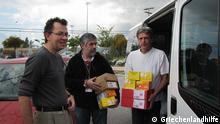 Griechenland Hilfe Medikamentenübergabe in Elliniko