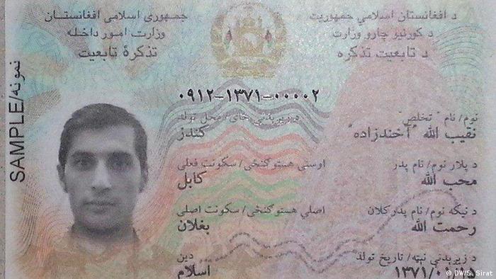 Afghanistan Einführung Ausweispapiere