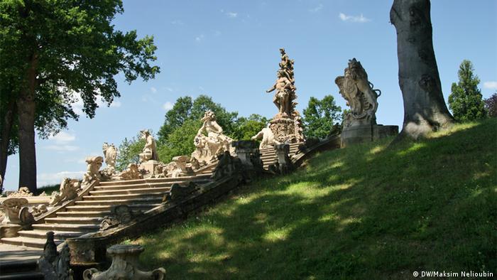 Фонтан Геракла в парке дворца Зеехоф