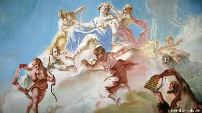 Фрески в Белом зале дворца Зеехоф