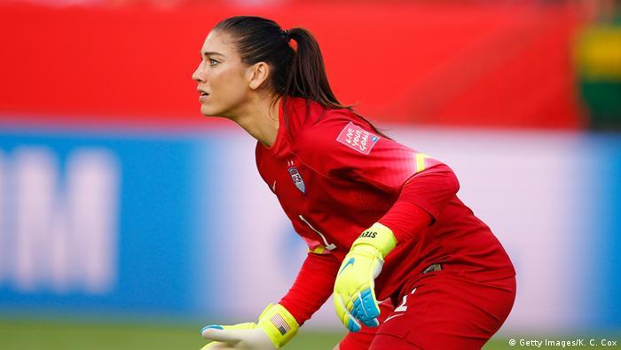 USA vs Kolumbien Frauenfußball Hope Solo