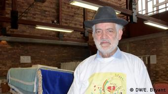 Rabbi Michel Serfaty in his synagogue in Ris Orangis