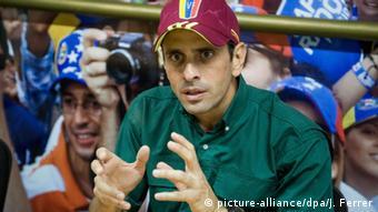 El líder opositor venezolano Henrique Capriles Radonski.
