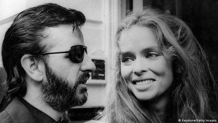 Ringo Starr (Richard Starkey) formerly of The Beatles, arriving at Marylebone Registry Office, London, for his second marriage, this time to American actress Barbara Bach.