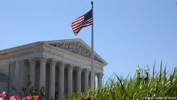 Exterior of US Supreme Court building with American flag (Photo: Mark Wilson/Getty Images)