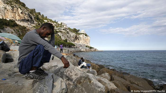 Italien Grenze Frankreich Ventimiglia Flüchtlinge