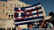 Griechenland Athen Anti EU Referendum Protest