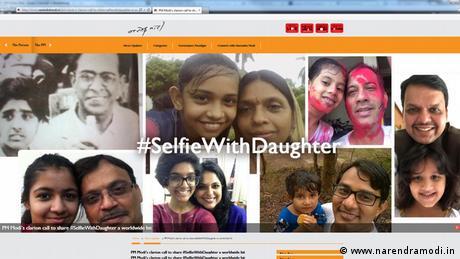 Indien Social Media Aktion des Premierministers Modi