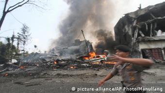 Indonesien Militär Flugzeug Absturz Medan