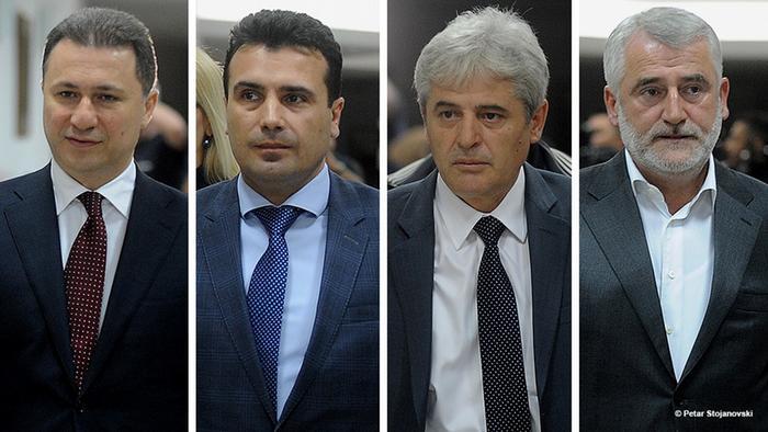 Kombibild Politiker Mazedonien