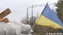 Stromkraftwerk Schtastje.jpg Produktion an der Frontlinie: Das Kohlekraftwerk von Schtastje auf ukrainisch gehaltener Seite in der Region Luhansk gehört zum DTEK-Konzern Fotos: © Evgenij Shulko