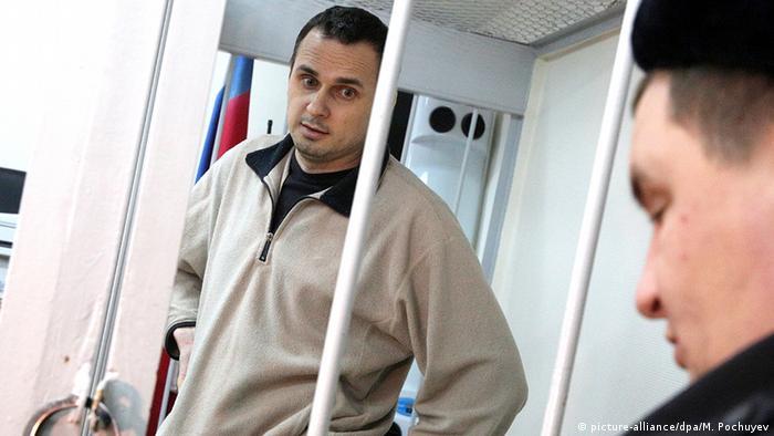 Ukraine Russland Regisseur Oleg Sentsov im Haft (picture-alliance/dpa/M. Pochuyev)