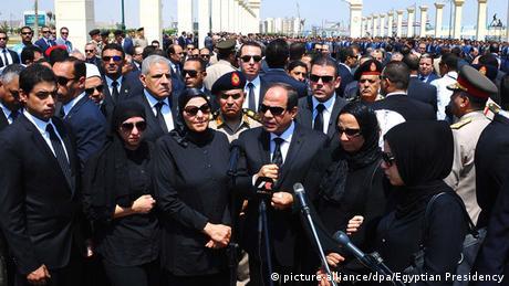 Beerdigung des Generalstaatsanwalt Ägyptens in Kairo Abdel Fattah al-Sisi