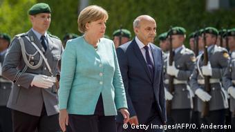 Deutschland Kosovo Mustafa bei Merkel