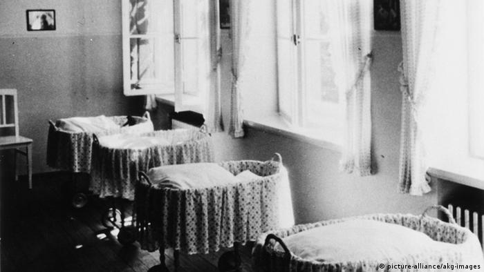 Cribs in a Lebensborn home in Steinhöring in 1938