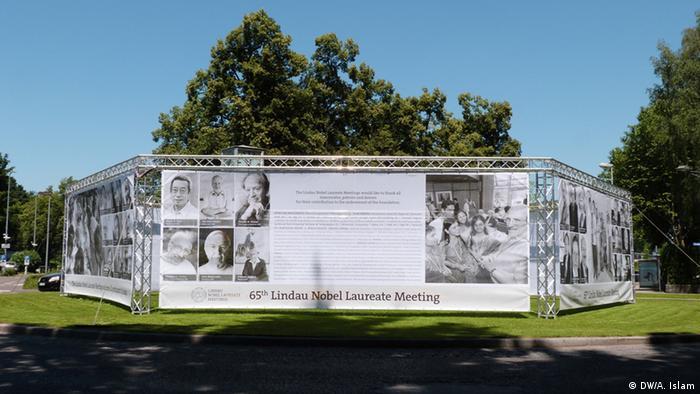 Banner at the 65th Lindau Nobel Laureate Meeting