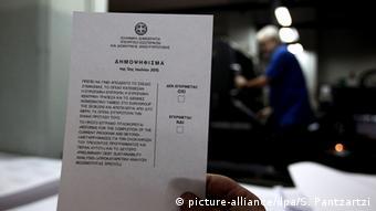 Griechenland Athen Schuldenkrise Vorbereitung Referendum