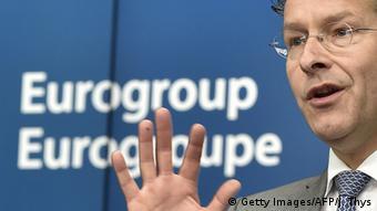 Brüssel Treffen der Finanzminister Beratung Griechenland Jeroen Dijsselbloem (Getty Images/AFP/J. Thys)