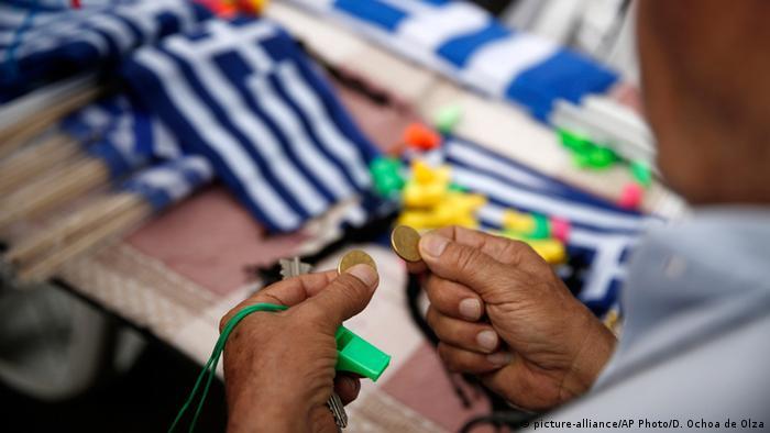 Griechenland Athen Schuldenkrise (picture-alliance/AP Photo/D. Ochoa de Olza)