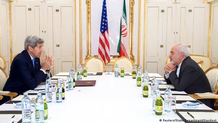 Wien Atomgespräche mit dem Iran. Kerry und Zarif