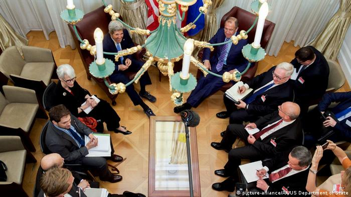 Wien Atomgespräche mit dem Iran Kerry Lawrow (picture-alliance/AA/US Department of State)