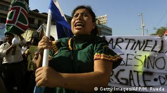Ngäbe-Bugle woman at Barro Blanco protest in Panama City in 2012 (Photo: MONICA RUEDA/AFP/Getty Images)