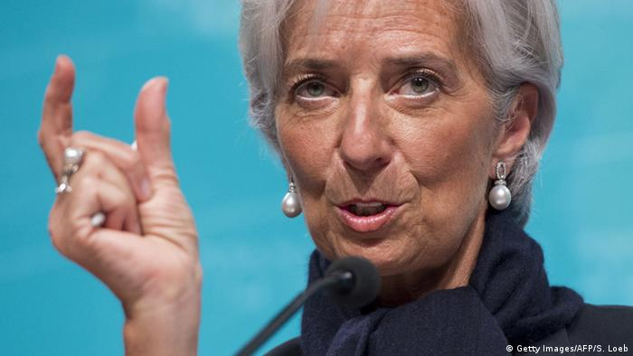Griechenland Krise Christine Lagarde IWF Illustration