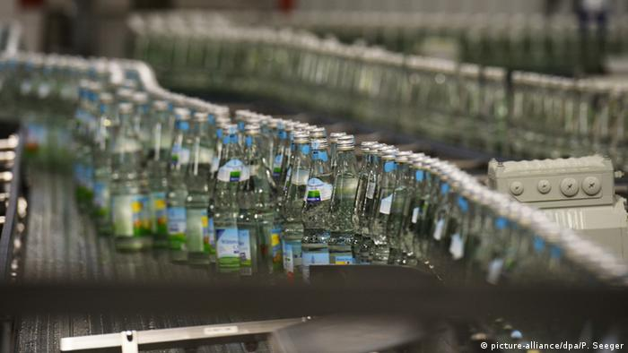 Bottled water production in a factory. (Picture: dpa)