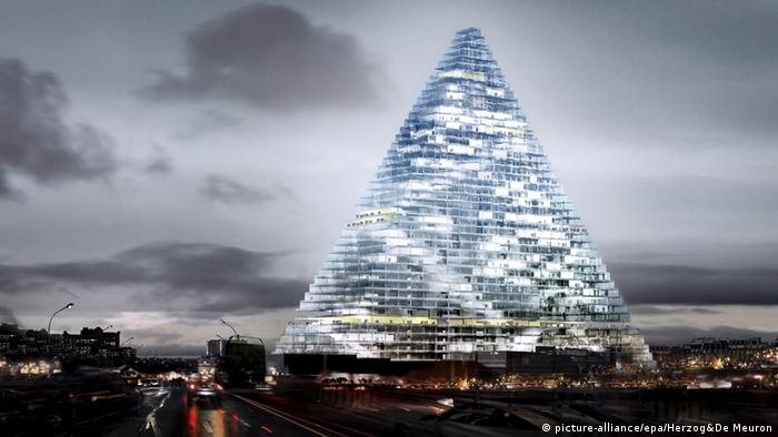 This animation shows what the new skyscraper in Paris will look like, Copyright: picture-alliance/epa/Herzog&De Meuron