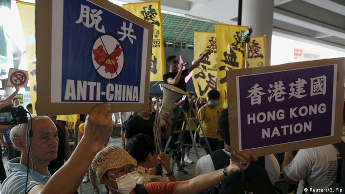 Hongkong Demo für Unabhängigkeit