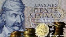 Griechenland Währung Drachme kontra Euro Symbolbild