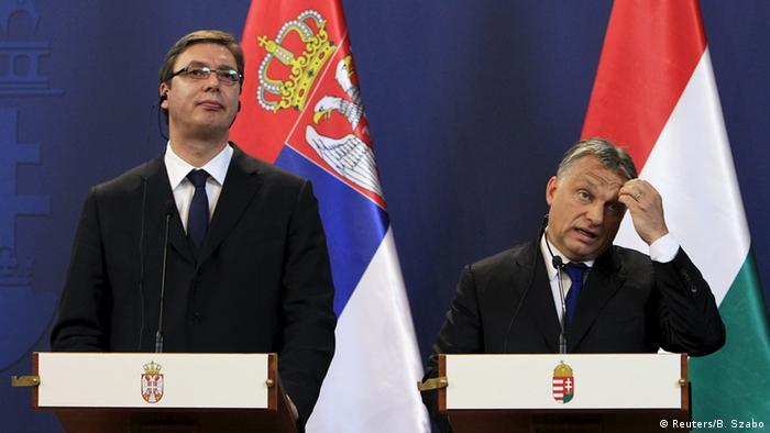 Vučić i Orban (arhivska snimka)