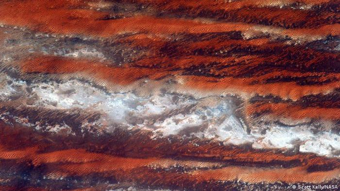 Photo: An African landscape from space. (Photo: Scott Kelly)