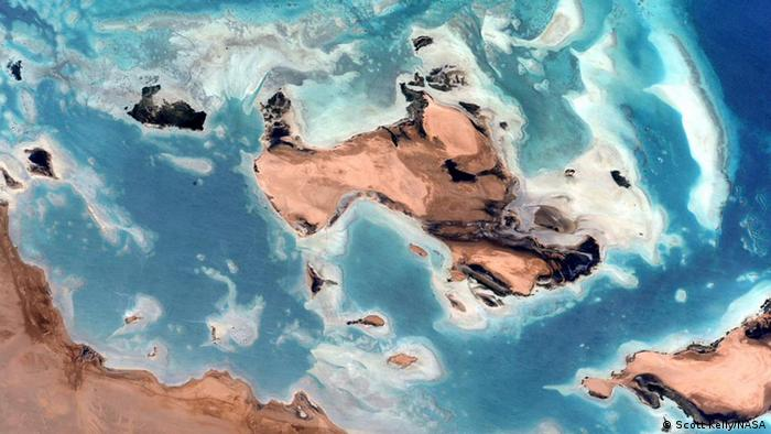Photo: The Red Sea. (Source: Scott Kelly/NASA)